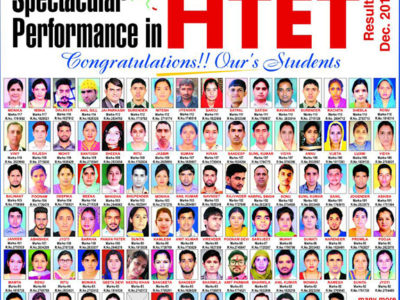 HTET 2017 result Ours Academy